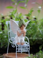 White Bindweed Flower Fairy Figurine