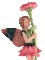 Zinnia Flower Fairy Figurine