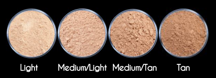 Mineral Foundation Colours