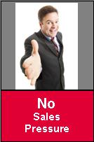 No sales pressure
