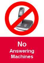 No answering machines