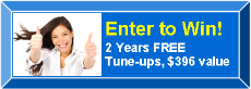 Enter to Win Two Years' FREE Heating Cooling Maintenance Service