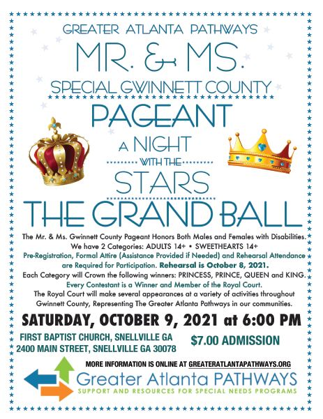 Mr/Ms Special Gwinnett County Pageant - July 18th, 2015