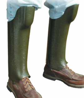 Plastic snake bite leggings