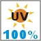 provides 100% UV protection