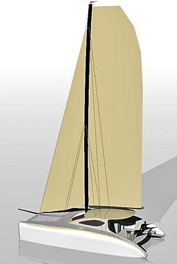 Spirited 380 Carbon racing mast!
