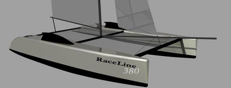 Racing Catamaran Kits   Racing Construction Plans   RaceLine 380