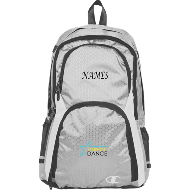Silver Backpack with Name