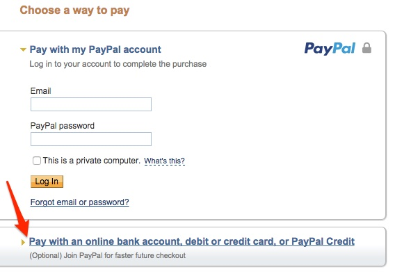 How to donate with a credit card as guest on PayPal