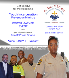 2019 Youth Incarceration Prevention Ministry event