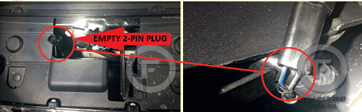 Ford Pickup Hood Pin-Switch Location