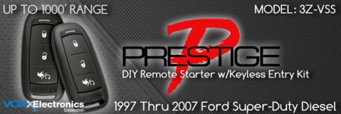 1997 through 2007 Ford Super Duty Diesel Remote Starters