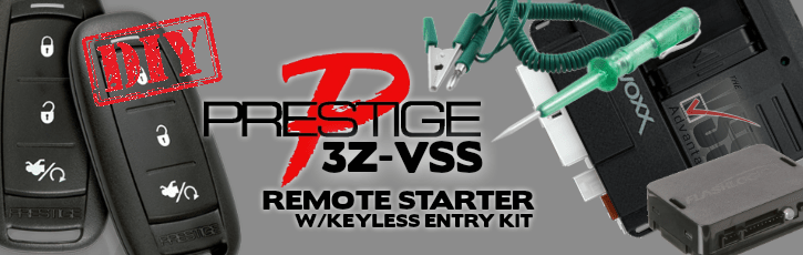 Prestige 3Z-VSS Vehicle Specific System Remote Starter Keyless Entry Kit