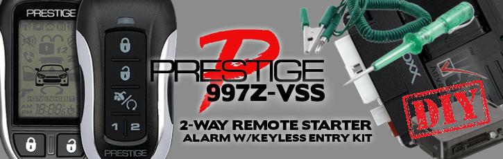 Prestige APS997Z 1 Mile Range 2-Way Remote Starter Kit