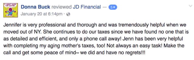 JD Financial - (585) 435-6873 - Personal & Business Tax