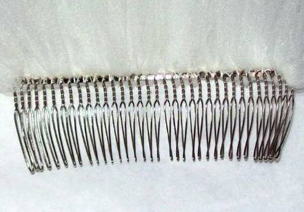 5.25 inch metal comb for wedding veils