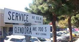 Corner of Glendora Avenue & Service Avenue