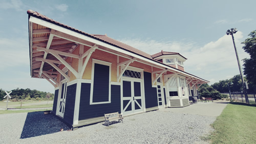 The Historic Duluth Train Depot is the Home of the Duluth Historical Society at the Southeastern Railway Museum in Duluth, GA