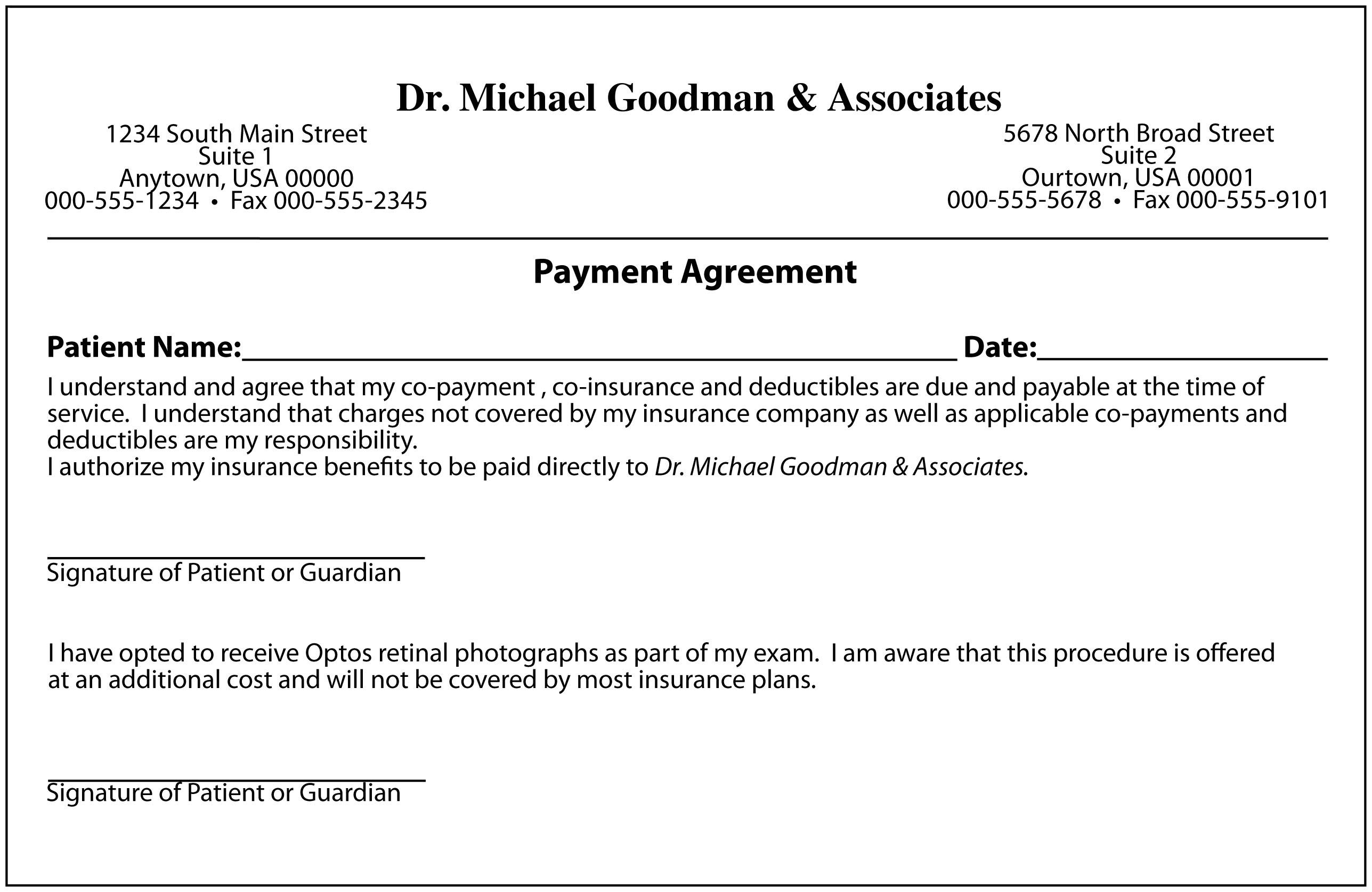 wage agreement template - keskes printing optometrists