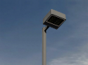 Led parking lot lighting pole and light