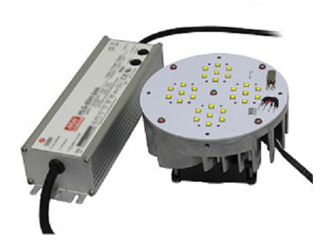 LED retrofit kit for wall pack, flood lights