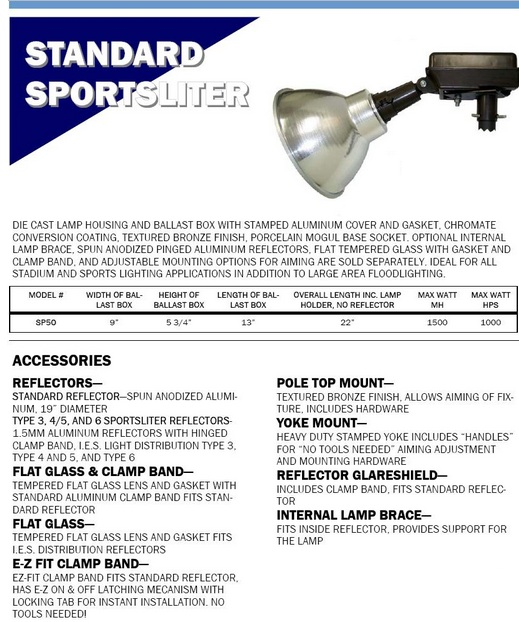 1000 watt sports light