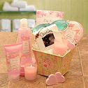 Send a gift for her - relaxing spa, candle gifts, & more.