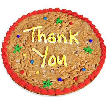 Thank You Cookie Cake