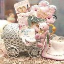Baby Gift Basket - Send this special baby carriage!