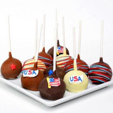 American Pride Cake Pops