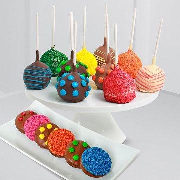 Rainbow Cake Pops & Oreo® Cookies