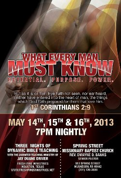 2013 What Every Man Must Know Conference