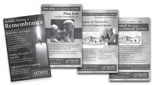 Anthony Funeral Home Ad Series