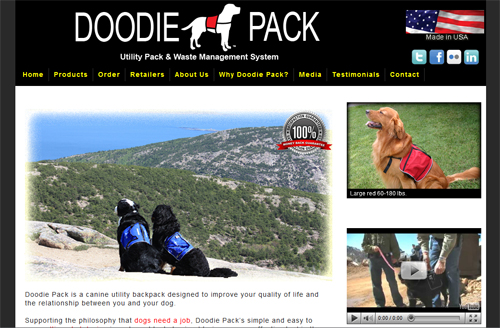 Doodie Pack website