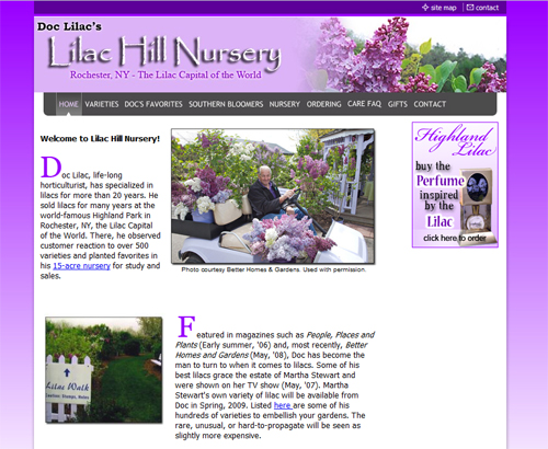 Lilac Hill Nursery Website