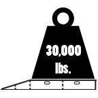 30000 lbs weight capacity