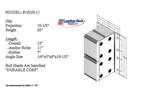 B10520-11 - Dock Bumper 10 1/2 x 20 x 11