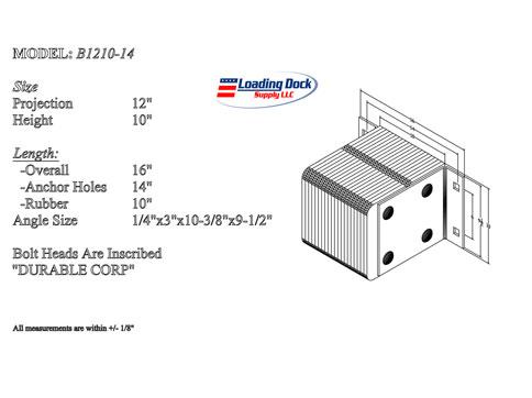 B1210-14 - Dock Bumper 12 x 10 x 14