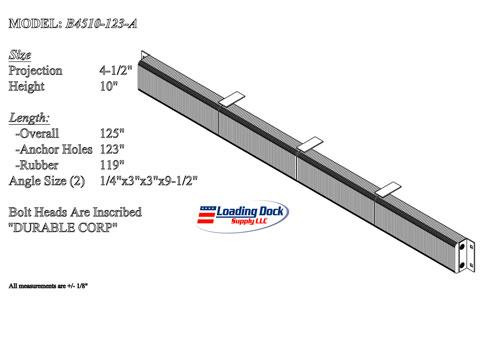 4.5 x 10 x 123  -- Extra Length Dock Bumper