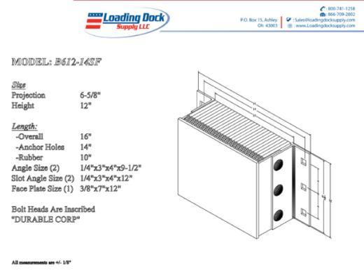 Steel Faced Dock Bumpers