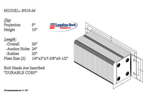 B910-24 - Dock Bumper 9 x 10 x 24