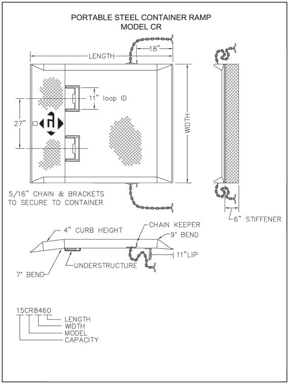 Container ramp drawing