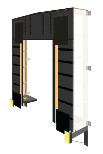 Rigid wood frame truck shelter