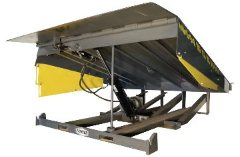 Hydraulic Pit leveler Model HP is exclusivley built with a solid C channel deck support for superior weight capacities and durability
