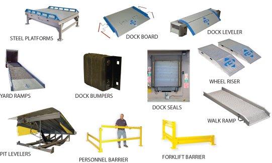 Loading Dock Equipment - Dock Bumpers, Dock Boards, Dock