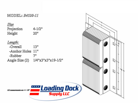 4.5 x 20 x 11  Loading Dock Bumper