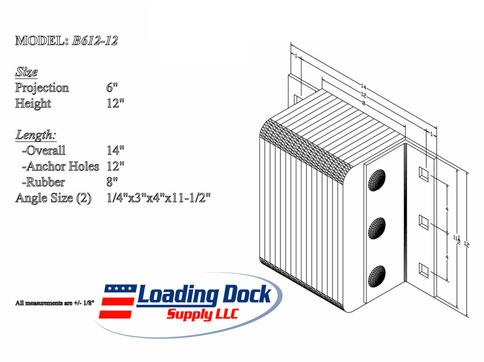 6 x 12 x 12 Laminated Dock Bumper