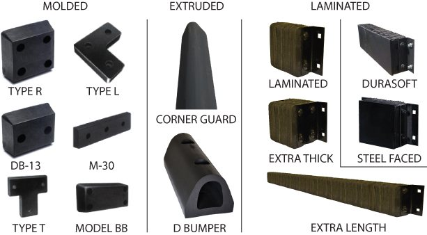Dock Bumpers, Laminated Bumpers, Molded Bumpers, Extruded Bumpers