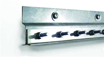 Face of wall steel mounting hardware