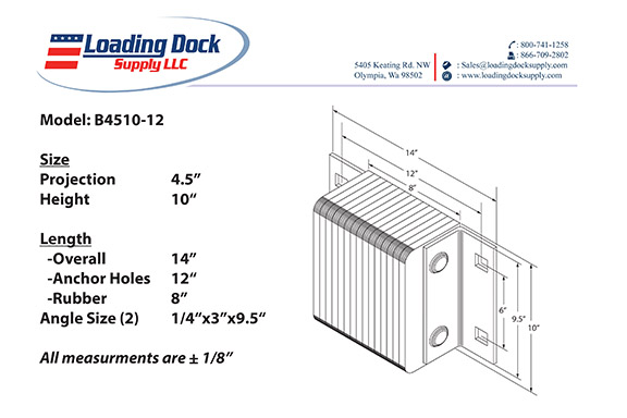 4.5 x 10 x 12 Laminated Dock Bumper